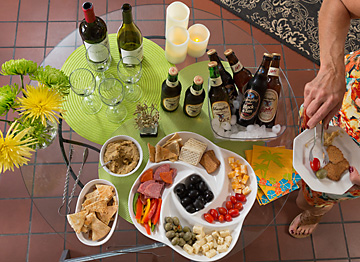 Food and beverages for Evening Social gathering