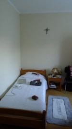 My room in the Parish House. WTF. They put up the T but I need to find the W and the F.
