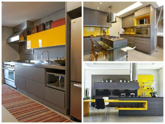 Cozinha Planejada Amarelo Amazing Cozinhas Amarelas Pra
