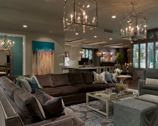 contemporary gray fabric sofa contrast piping tufted faux leather futon bed multiple colors sala cinza: 40 inspirações, dicas e ideias imperdíveis!