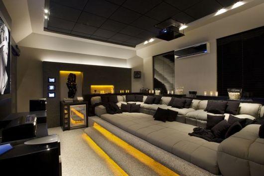 sofas modernos para sala de tv house of fraser black leather sofa 55 fotos e modelos decoracao moderna home theater