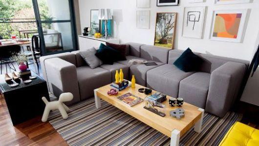 sofa modernos 2017 best sleeper sofas 55 fotos e modelos tapete listrado