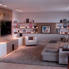 Sofas Modernos Para Sala De Tv Akc Memory Foam Large Sofa Bed For Dogs 55 Fotos E Modelos Parede Com Prateleiras