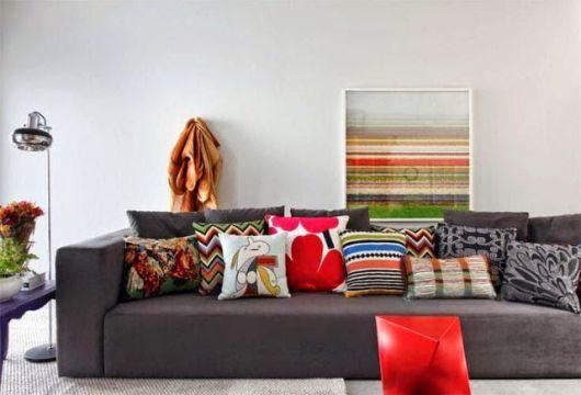 Almofadas coloridas 45 ideias para uslas com estilo