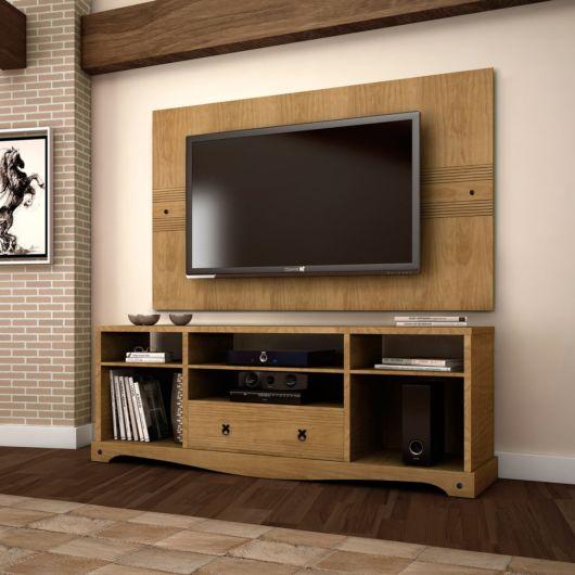 Rack de madeira Dicas  38 modelos incrveis para sua sala