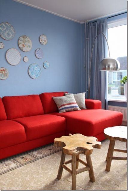 Sala Azul Como fazer Dicas e 44 fotos de projetos