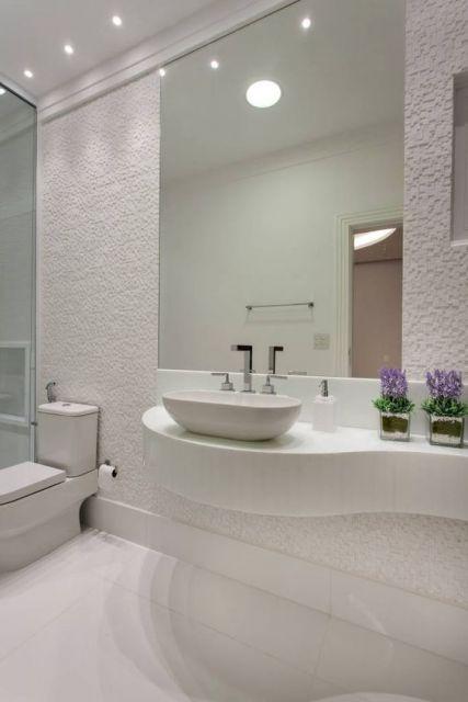 Banheiros decorados  de 80 ideias e inspiraes incrveis