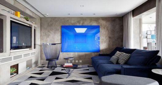 45 Salas com Sof Azul  Os Modelos mais Lindos  Como