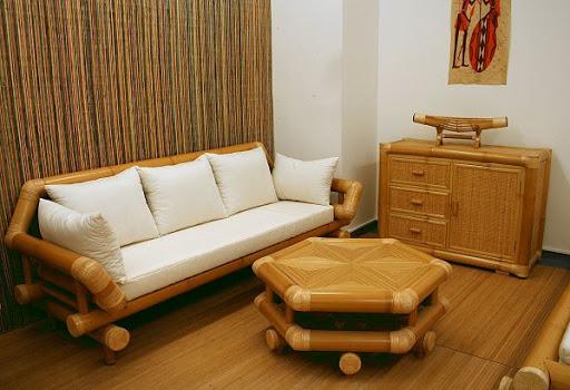 móveis de bambu decoração