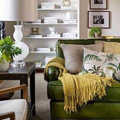 Decorating With Sage Green Sofa Garden Corner Furniture Covers 15 Salas Com Sofá Verde Para Te Inspirar