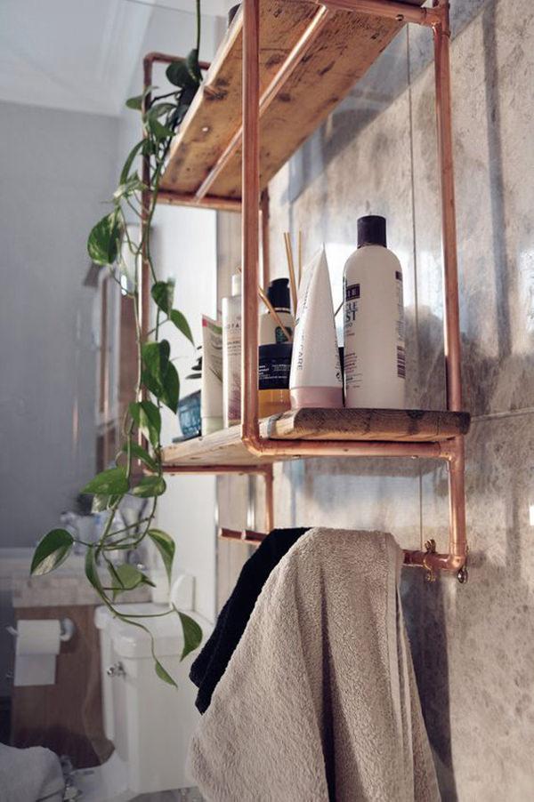23 ideias para usar cano de cobre na decorao