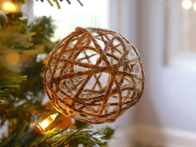 Bola rústica de natal. (Foto: Divulgação)