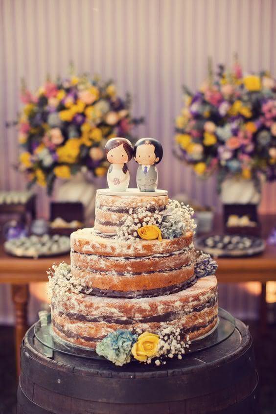 Naked Cake para Casamento 2016 Veja receitas e ideias