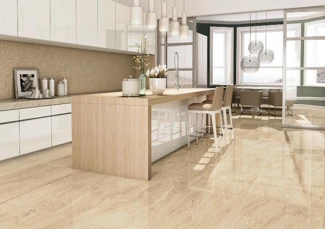 Piso de porcelanato para sala e cozinha Confira modelos e dicas