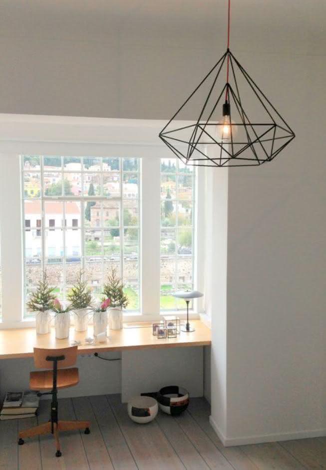 Luminria geomtrica nova tendncia de decorao