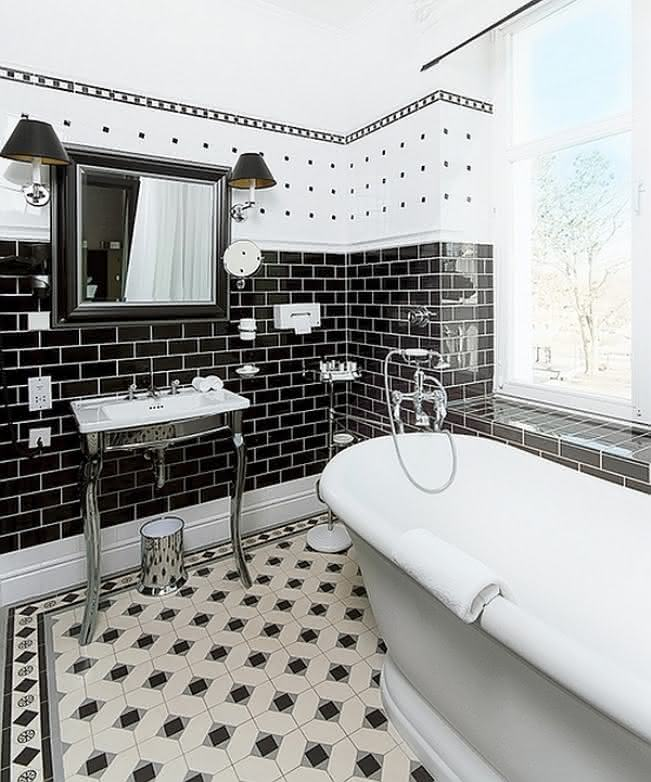 Banheiros Preto e Branco Veja Fotos Inspiradoras e Ideias
