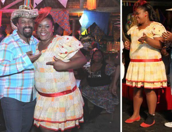 Vestido de festa junina plus size
