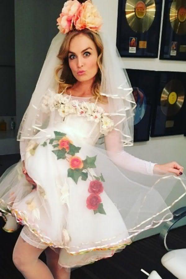 Vestido de noiva caipira de Angélica.