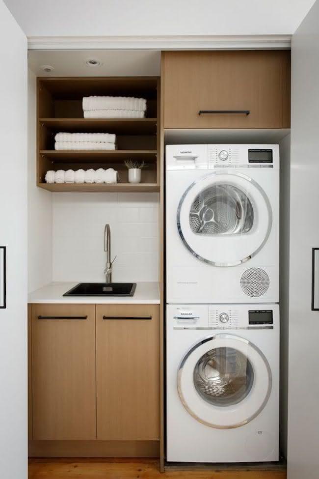 Lavanderia Pequena 6 ideias para decorar e ganhar espao