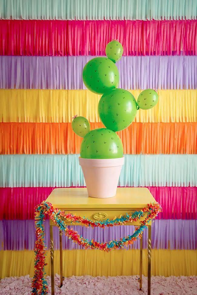 Festa com Tema Cactos 30 ideias criativas de decorao
