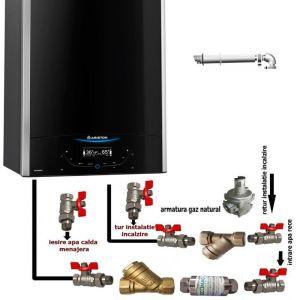 Pachet baza centrala termica in condensare Ariston Alteas One Net 35 EU 35 KW + pachet instalare centrala termica