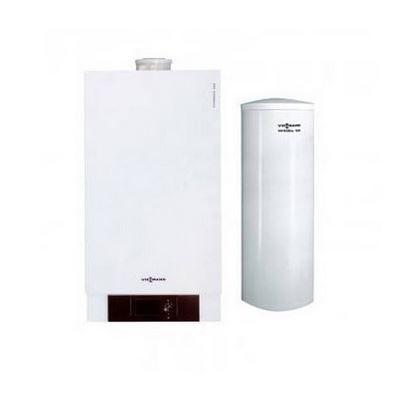 Pachet centrala termica in condensare Viessmann Vitodens 200-W 60 kw cu boiler monovalent Vitocell 100-W 300 litri B2HAL56