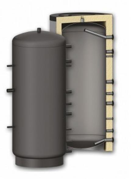 Puffer - Rezervor de acumulare agent termic izolat Fornello P 1000 cu izolatie din poliuretan de 10 cm