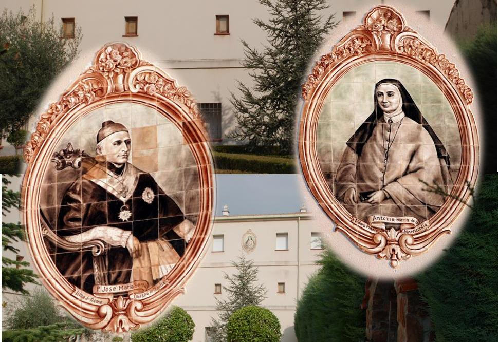 Medallones Madre Antonia y Padre Serra