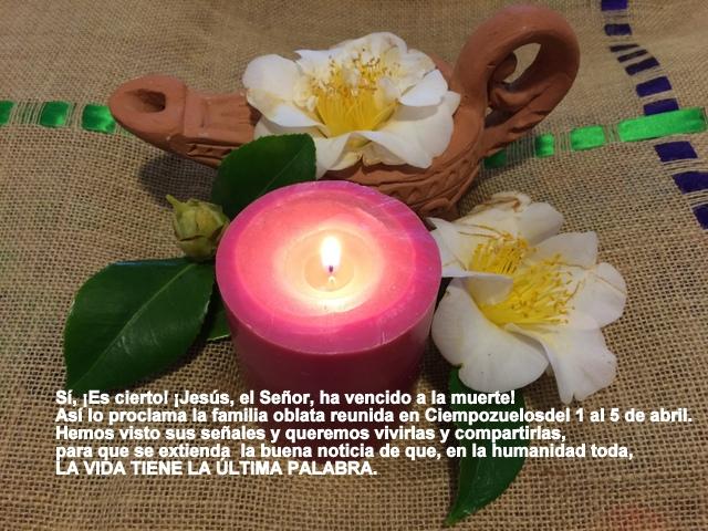 Felicitación Pascua 2015 Oblatas Ciempozuelos