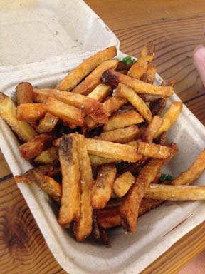 The Swinery's fries -- the new gold standard