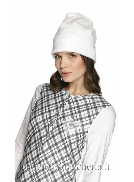 LIUJO pigiama donna invernale con 5 bottoni in caldo
