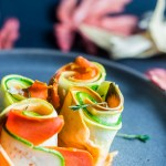 Squash and Carrot Rosettes