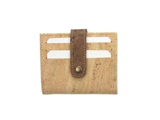 Porte cartes liège bicolore poches rangement cartes bancaires fidélités visite