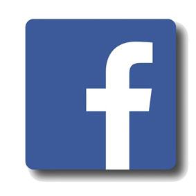 logo bouton bleu Facebook lien URL