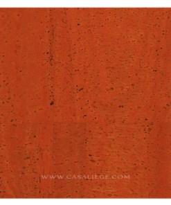 Coupon tissu de liège Naturel orange Couture DIY