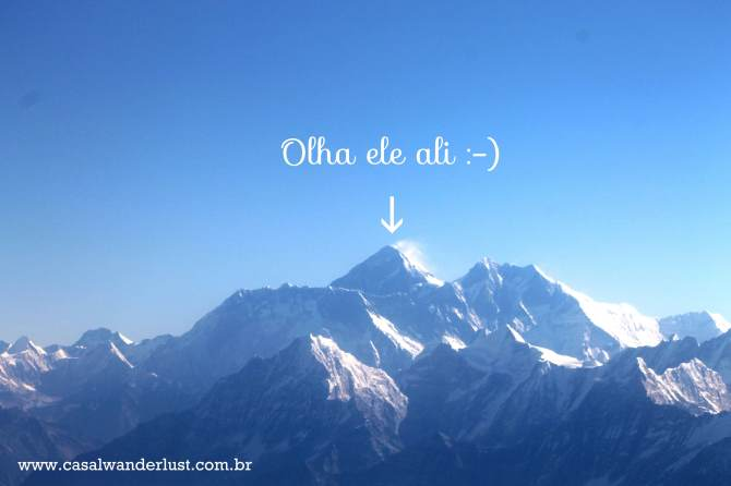 Sobrevoando o Everest!