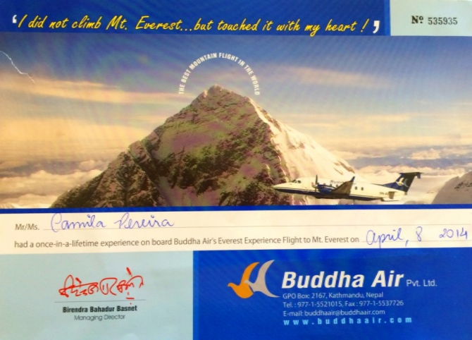 Certificado Everest