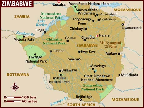 Map Zimbabwe 2