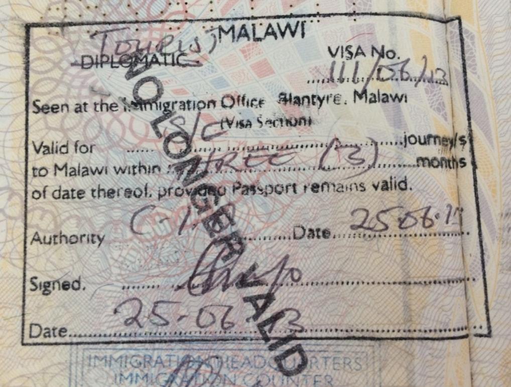 Como tirar o visto para o Malawi