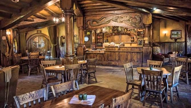 Inside of the Green Dragon Inn