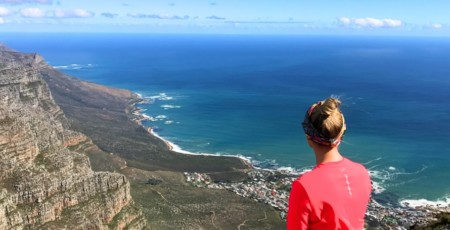 Subindo a Table Mountain pela trilha mais fácil