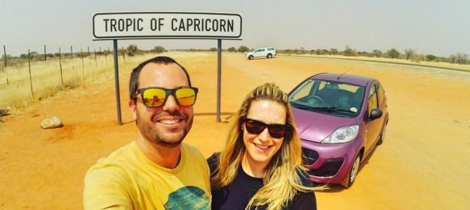 Viajando pela Namíbia com um carro alugado