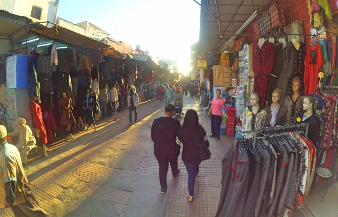 Ruas da Medina em Rabat