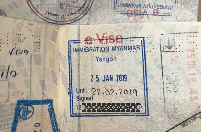 visto para o Myanmar