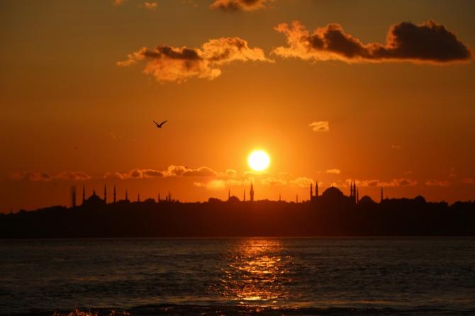 por do sol em istambul