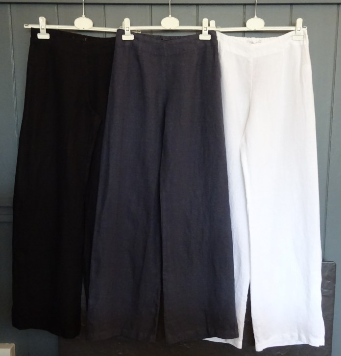 Flat Front, pull-on linen trousers, £89