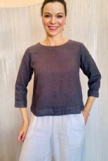 Three quarter sleeve blouse Grey £95