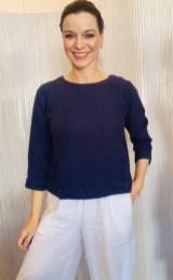Three quarter sleeve blouse Navy £95