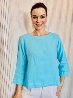 Three quarter sleeve blouse Turquoise £95
