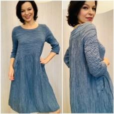 Crinkle dress £225